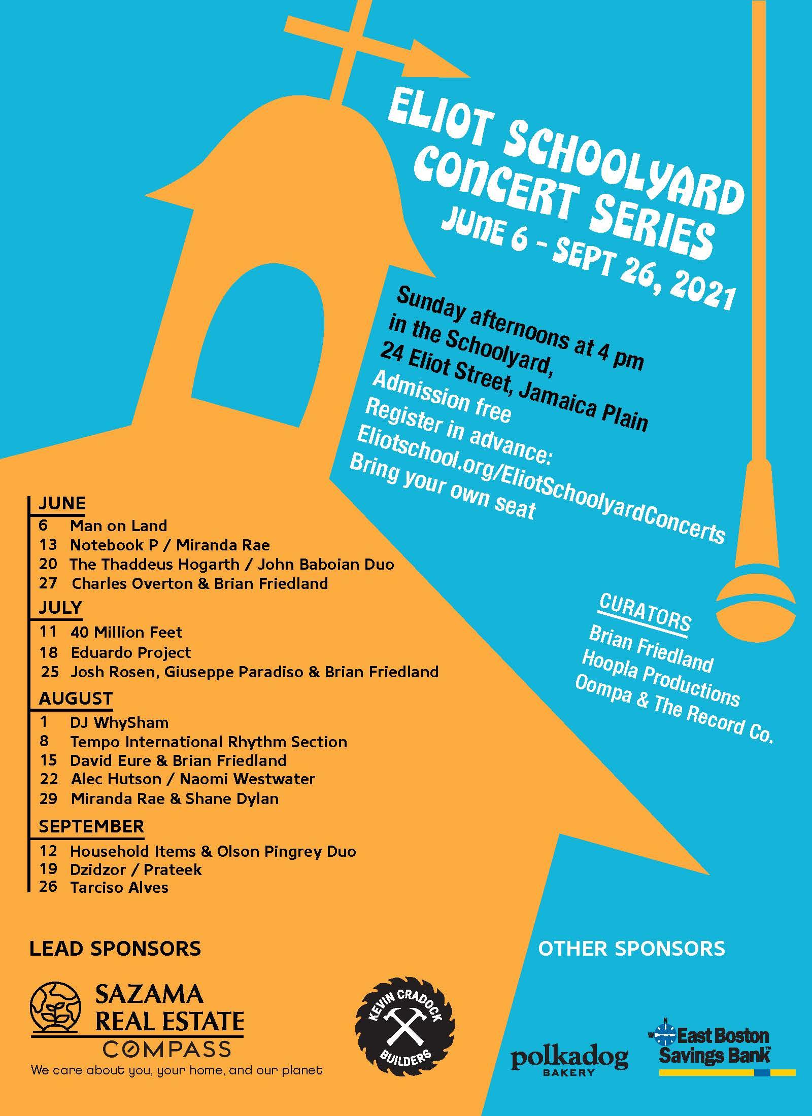 Full Summer Concert Schedule
