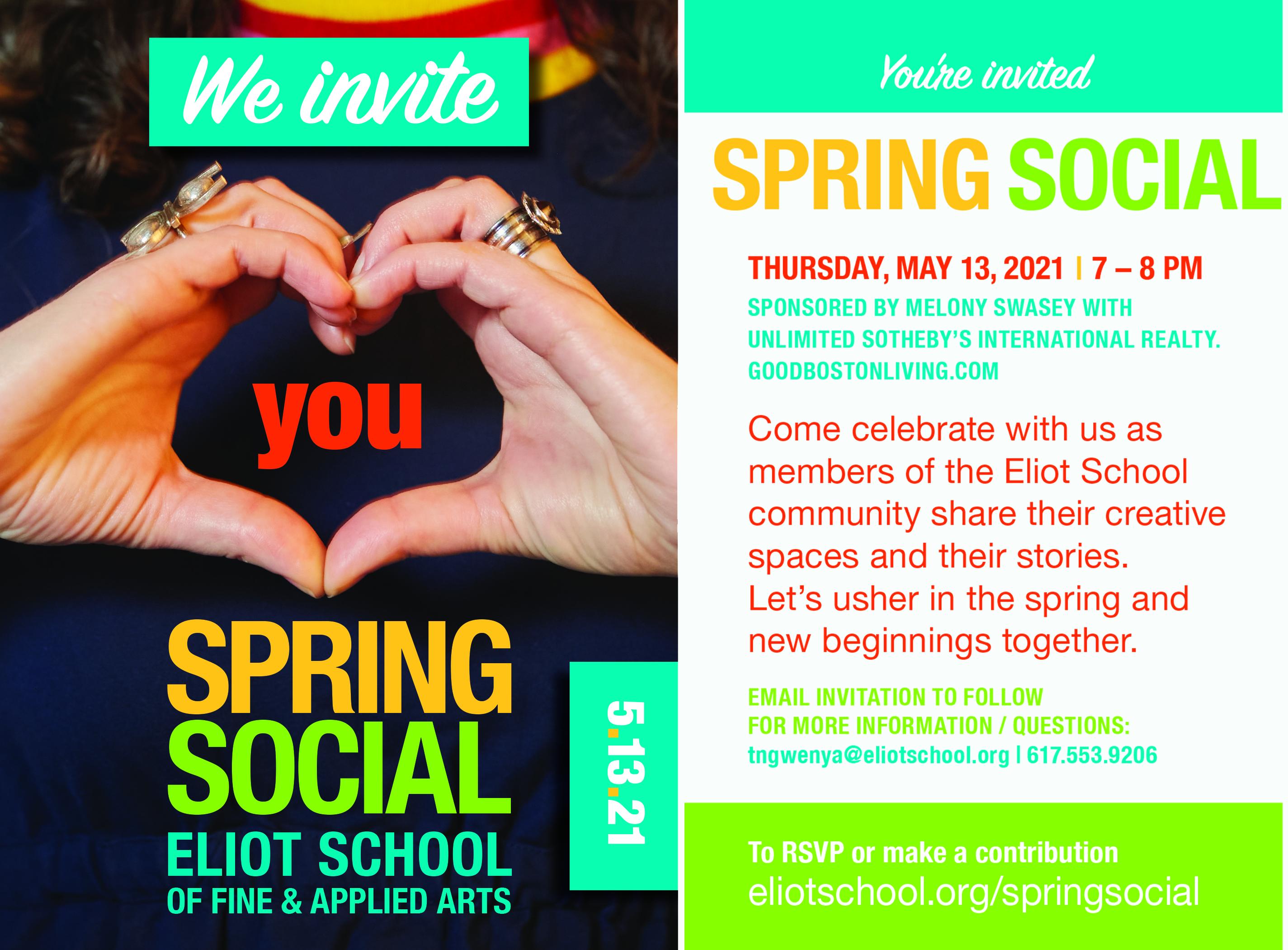 Spring Social Postcard