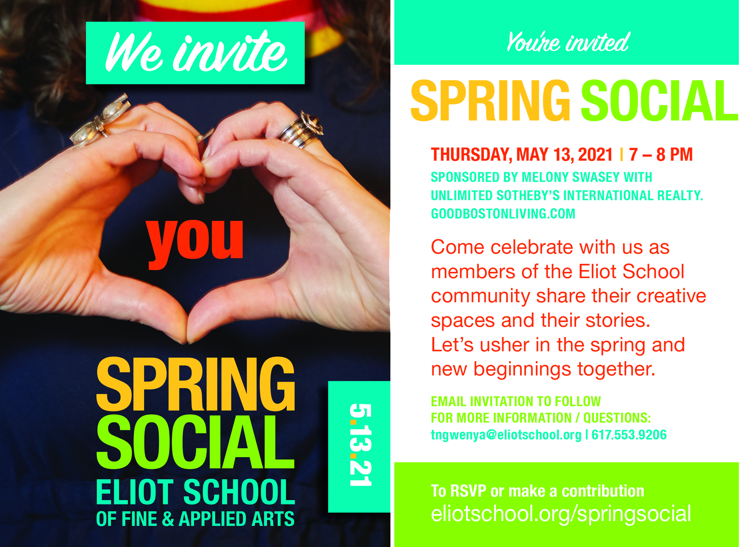 Spring Social 2021 Postcard